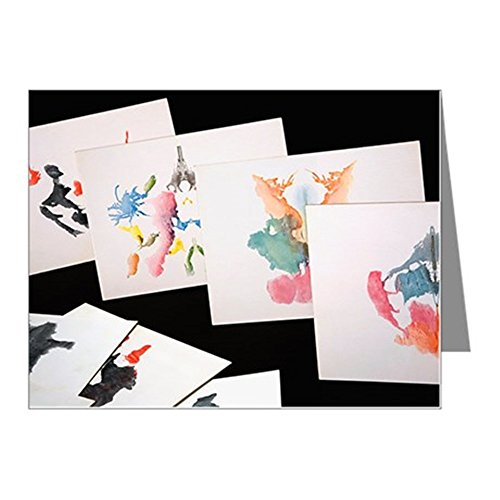 (CafePress - Rorshach Inkblot Test Note Cards (Pk of 10) - Blank Note Cards (Pk of 10) Matte)