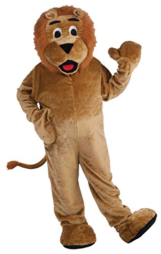 UHC Lion Plush Mascot Jumpsuit Funny Comical Theme Party Halloween Costume, OS by Ultimate Halloween Costume