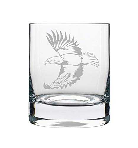Eagle 14 oz. whiskey rocks glass, permanently etched