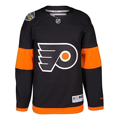 Reebok Philadelphia Flyers NHL Black 2017 Official Stadium Series Premier Jersey For Men (4XL)