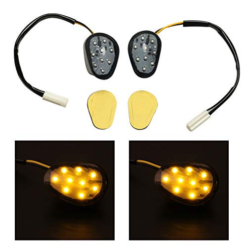 2PCS LED Turn Signal Indicator Light Flush Mount For Yamaha YZF R1 R6(Amber) ()