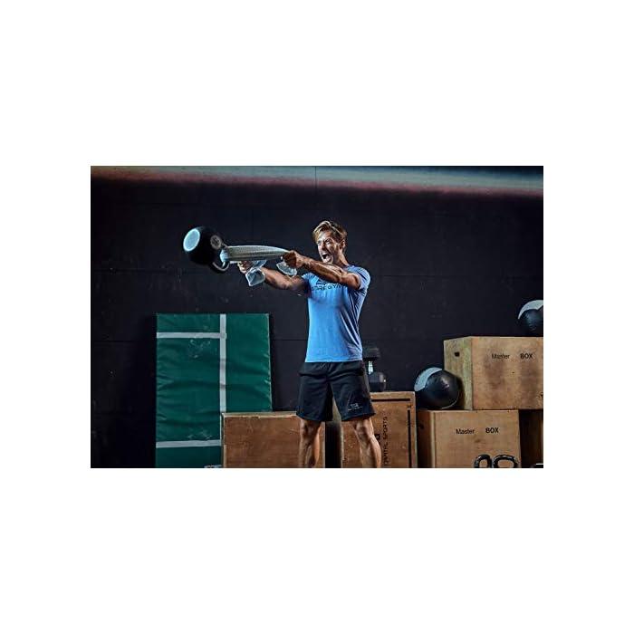 416VT7L7spL ✔️ acentúa los músculos: esta camiseta de fitness acentúa los músculos pectorales y hace que los hombros se vean más anchos mientras entrenas. ✔️ Movilidad: esta camiseta de entrenamiento para hombre permite una movilidad completa y por lo tanto es adecuada para todos los deportes. ✔️ Ropa funcional – esta camiseta de gimnasio se compone de un material de secado rápido que reduce considerablemente la transpiración (Material: 93% poliéster, 7% elastano)