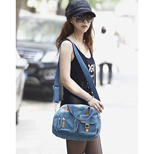a da di CHENGYI Casual Tela Tracolla Tracolla con a Borsa Borsa da Donna Blu in Moda da Viaggio Viaggio Tracolla w7T1A70xq
