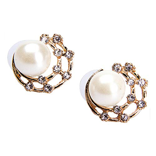 Pearl with Gold Metal and Silver Rhinestone Lady Girl Jewelry Earring Studs Necklace Jewelry Crafting Key Chain Bracelet Pendants Accessories Best