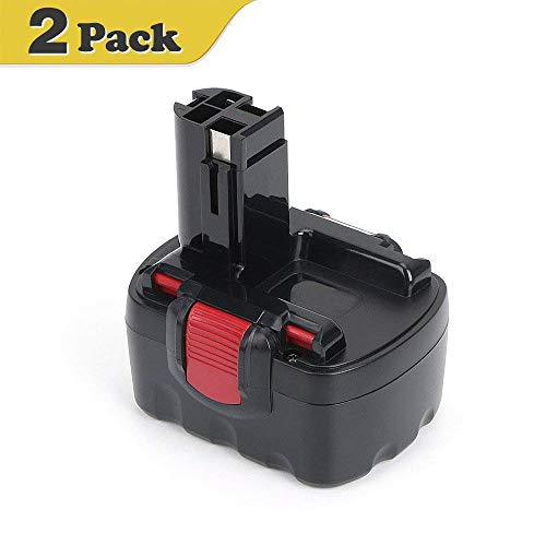 [2 Pack] 14.4V 3.0Ah NiMh Replace Battery for Bosch BAT038 BAT140 BAT040 BAT140 BAT041 BAT159, Bosch 14.4V 13614 13614-2G 15614 1661 22614 32614 PSB14.4 Cordless Power Tools by REEXBON
