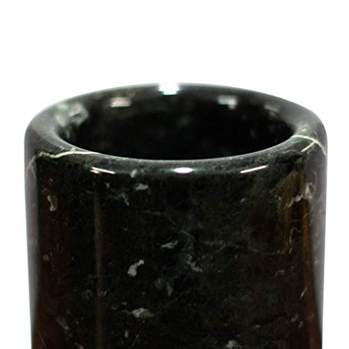 Onyx Height Black - Marble Utensil Caddy Multifunctional Marble Utensil Holder Organizer Made from the Finest Quality of Black Onyx While Marble Has Used It Featured Height of 6 Inches with a Diameter of 4.5 Inches Round