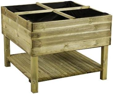 Krauterbeet Aus Holz 100 X 100 X 80 Cm Hochbeet Fur Balkon Bausatz Von Gartenpirat Amazon De Garten