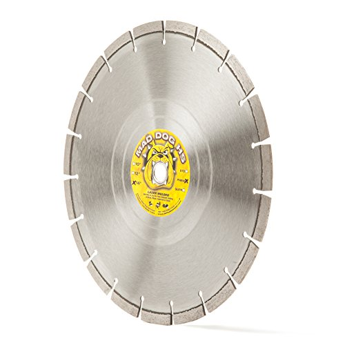 "Mad Dog HS 14-Inch (14"") Wet/Dry Diamond Blade for General Purpose Cutting of Concrete, Masonry, Roofing Tile, Stone and Similar Materials"