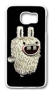 Brian114 Case, S6 Case, Samsung Galaxy S6 Case Cover, Bunny Dark Retro Protective Hard PC Back Case for S6 ( white )
