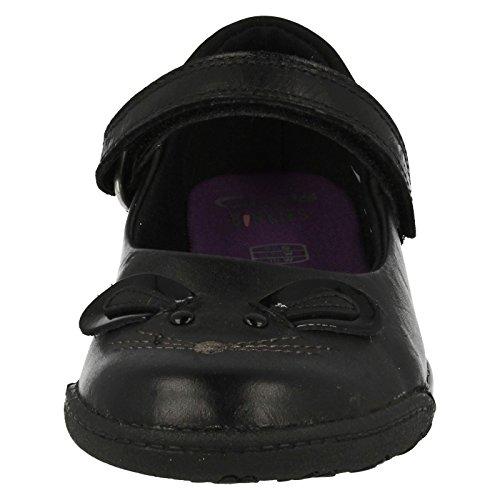 Clarks  NibblesBee Inf,  Mädchen Durchgängies Plateau Sandalen mit Keilabsatz Schwarz