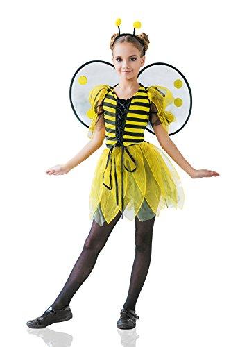 Kids Girls Little Bee Costume Buzzy Cutie Honey Wasp Birthday Bug Party Dress Up (3-6 years, Yellow, Black, (Little Honey Bee Girls Costumes)