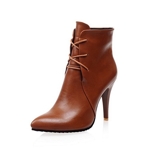 Mule Boots Blend Womens Brown BalaMasa Materials Stiletto Bandage ZOqtKxAg