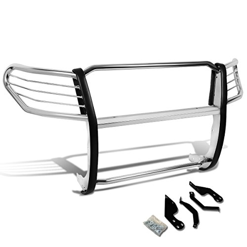 DNA MOTORING Silver GRILL-G-052-SS Front Bumper Brush Grille Guard