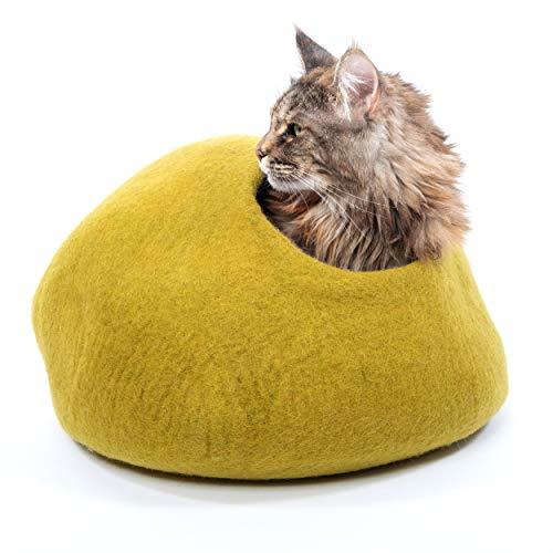 Mimis Daughters Mustard Cat Cave Bed, Premium,...