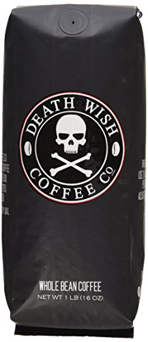 Death Wish Organic USDA Certified Whole Bean Coffee, 16 Ounce Bag by Death Wish Coffee Co.