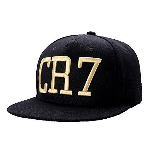 Ulgen Cristiano Ronaldo CR7 Hiphop Sports Unisex Flat Brim Snapback Hats Caps