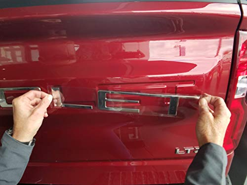 EyeCatcher Tailgate Insert Letters for 2019 Chevrolet Silverado (Chrome) – Go4CarZ Store ...