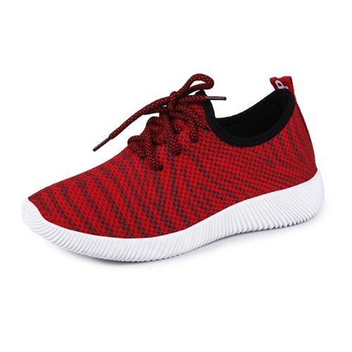 De Zapatos RED Femenino Para Up Vulcanización Mujer Del Shoescasual amp;G Lona Calzado Mujeres Las Lace NGRDX Zapatos Caminar HEtPqxT