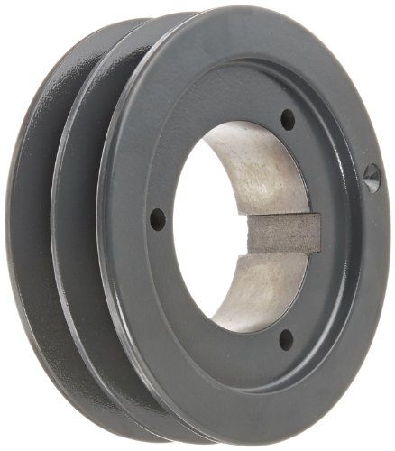 Browning 2B5V50 Split Taper Sheave, Cast Iron, 2 Groove, A, B or 5V Belt, Uses B Bushing ()