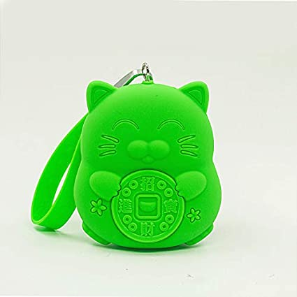 Silicona de Dibujos Animados Lucky Cat Love Monedero Sucio ...