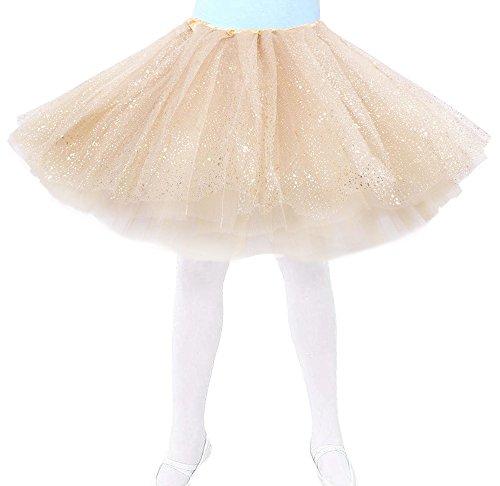 KEA KEA Kids Sparkly Glitter Tulle Ballerina Fairy Princess Tutu Skirt
