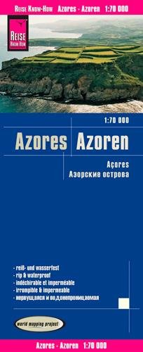 Reise Know-How Azores Map - 1:70,000 (English, Spanish, French, German and Russian Edition)