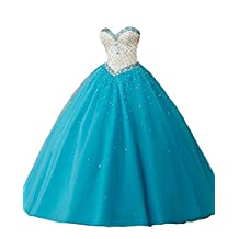 Jdress Elegant Long Prom Dreses Girls'Ball Gown Beads Quinceanera Dresses 2018
