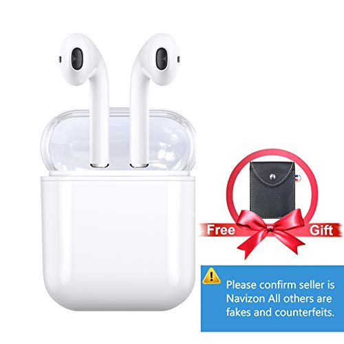 Bluetooth Earbuds Wireless Earbuds Bluetooth Headphones Wireless Headphones 5.0 Mini Stereo in-Ear True Wireless Earbuds Built-in Microphone with 1500mAh Charging Box for All Smart Phones (White)