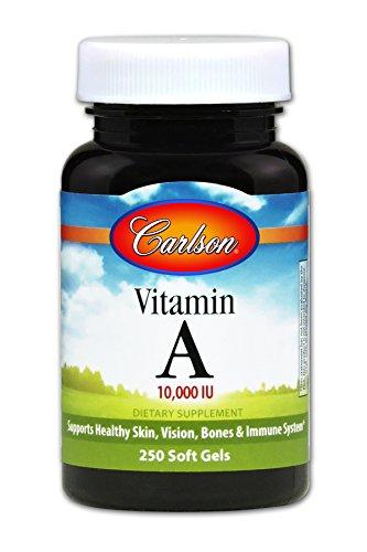 Carlson - Vitamin A, 10000 IU, Skin, Vision & Bone Health, Immune Support, 250 Soft gels