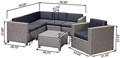 Phenomenal Amazon Com Christopher Knight Home Puerta Outdoor 6 Seater Spiritservingveterans Wood Chair Design Ideas Spiritservingveteransorg