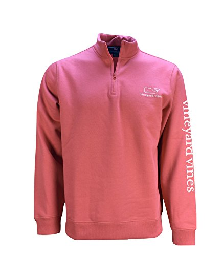 Vineyard Vines Mens Jetty Red Graphic 1/4 Zip Vintage Whale Pullover (X-Large) from Vineyard Vines