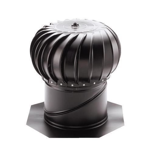 Internally Braced Aluminum Turbine - Lomanco Bib12b Black Twelve (12) Inch Whirlybird Turbine Attic Vent