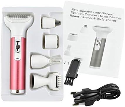 Afeitadora eléctrica, damas especial Mini Visage zonas íntimas cuerpo depiladora decapante secador máquina de depilación: Amazon.es: Salud y cuidado personal