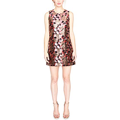 - RACHEL Rachel Roy Women's Sleeveless Floral Jacquard Shift Dress, Cherry Blossom Combo 6