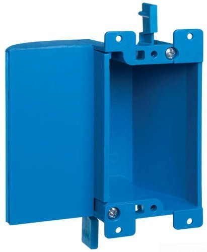 Carlon B117RSW Work Outlet Box, 1 Gang, 3.64-Inch Length by 4.07-Inch Width by 2-Inch Depth, Blue by Thomas & Betts by Thomas & Betts (Image #1)