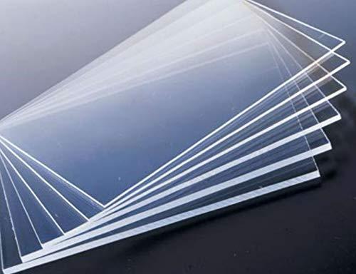 FidgetKute 5pcs Clear Acrylic Sheets Transparent PMMA Panels 100mm x 100mm x 1mm
