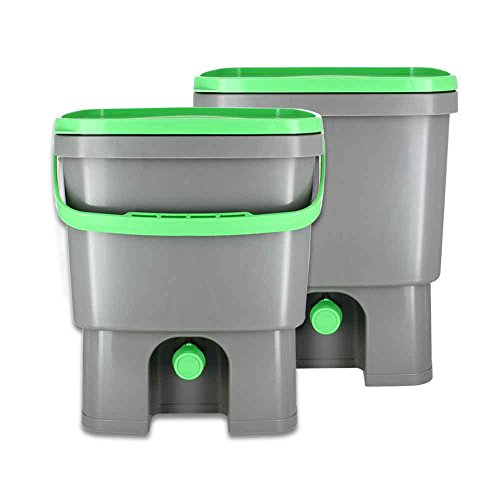 Organico Bokashi Cubo para residuos de Cocina - Set de 2, para ...