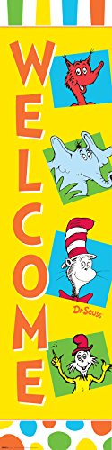 BirthdayExpress Dr Seuss Cat in The Hat Room Decor - Vertical Paper Banner]()