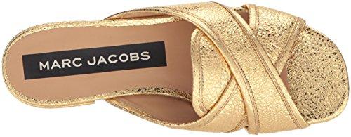 Marc Jacobs Femmes Aurora Flat Slide Sandale Gold
