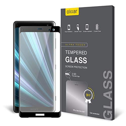 Olixar Sony Xperia XZ3 Screen Protector - Tempered Glass - Full Cover/Edge to Edge- Easy Application - Edge to Edge - 9H Hardness Anti Scratch, Bubble Free, Anti Fingerprint