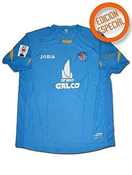 Joma - Getafe 1ª Camiseta Final Copa del Rey 2007 Hombre Color: Azul Royal Talla: XL: Amazon.es: Deportes y aire libre