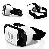 Original Global Technology® VR Boîte Lunettes 3D Virtual Reality Cardboard réalité virtuelle universelle Casque Gaming Vidéo für Huawei Series Weiß