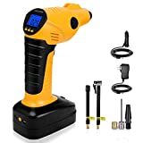 CARYWON Cordless Air Compressor, Auto Handheld Electric Digital Tire Inflator with LED Light,12V 150PSI Portable Tyre Pump Perfect for Car, Bicycle, Motorcycles, Airbeds, Basketball
