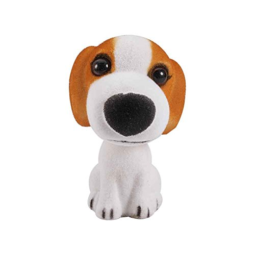 ATMOMO Beagle Nodding Dog Mini Bobble Head Toys for Car Decoration Pug Bobblehead Mini Puppy Dog Car Dashboard Decoration with Aromatherapy Pads