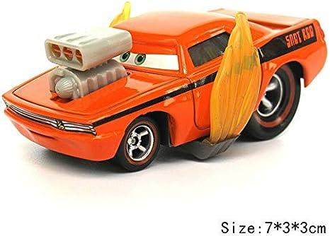 Desconocido Disney Disney Pixar Cars 2 3 Roze Snot Rod & DJ & Boost i Wingo Lightning Mcqueen Mater 1:55 Diecast Metal Alloy Model Car Kid Gift Rotz