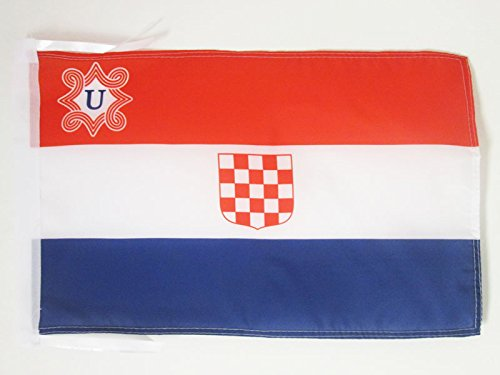 - AZ FLAG Independent State Croatia 1941-1945 Flag 18'' x 12'' Cords - Croatian Small Flags 30 x 45cm - Banner 18x12 in