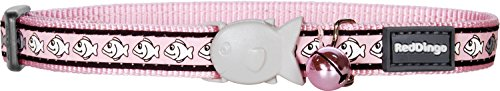 Red Dingo Reflective Cat Collar, One Size Fits All, Pink