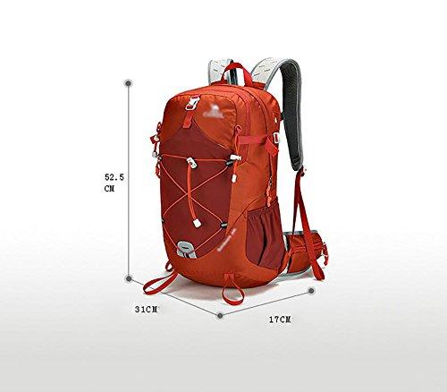 HWLXBB Outdoor Bergsteigen Paket Männer und Frauen 35L Wasserdichte Licht Mehrzweck-Bergsteigen Tasche Wandern Rucksack ( Farbe : 1* )