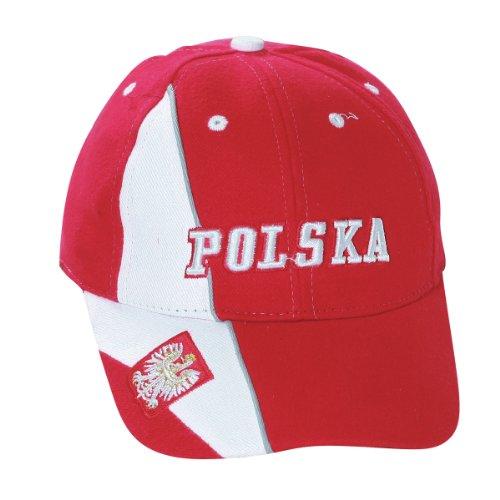 Polish Apparel Red Baseball Cap - Polska, Eagle on Brim