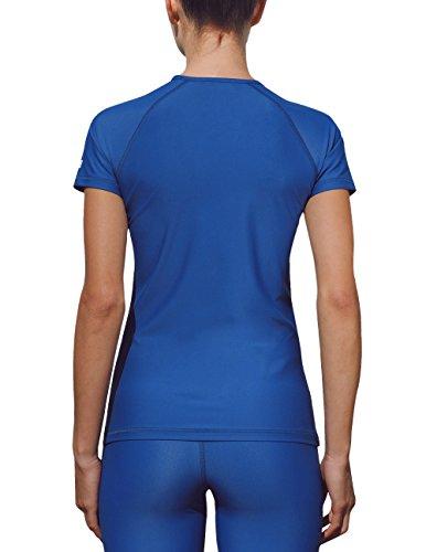 iQ-Company UV 300 T-Shirt Watersport - Camiseta con manga corta de natación para mujer Azul - azul marino
